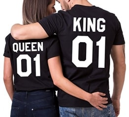 King Queen Partner Tshirts
