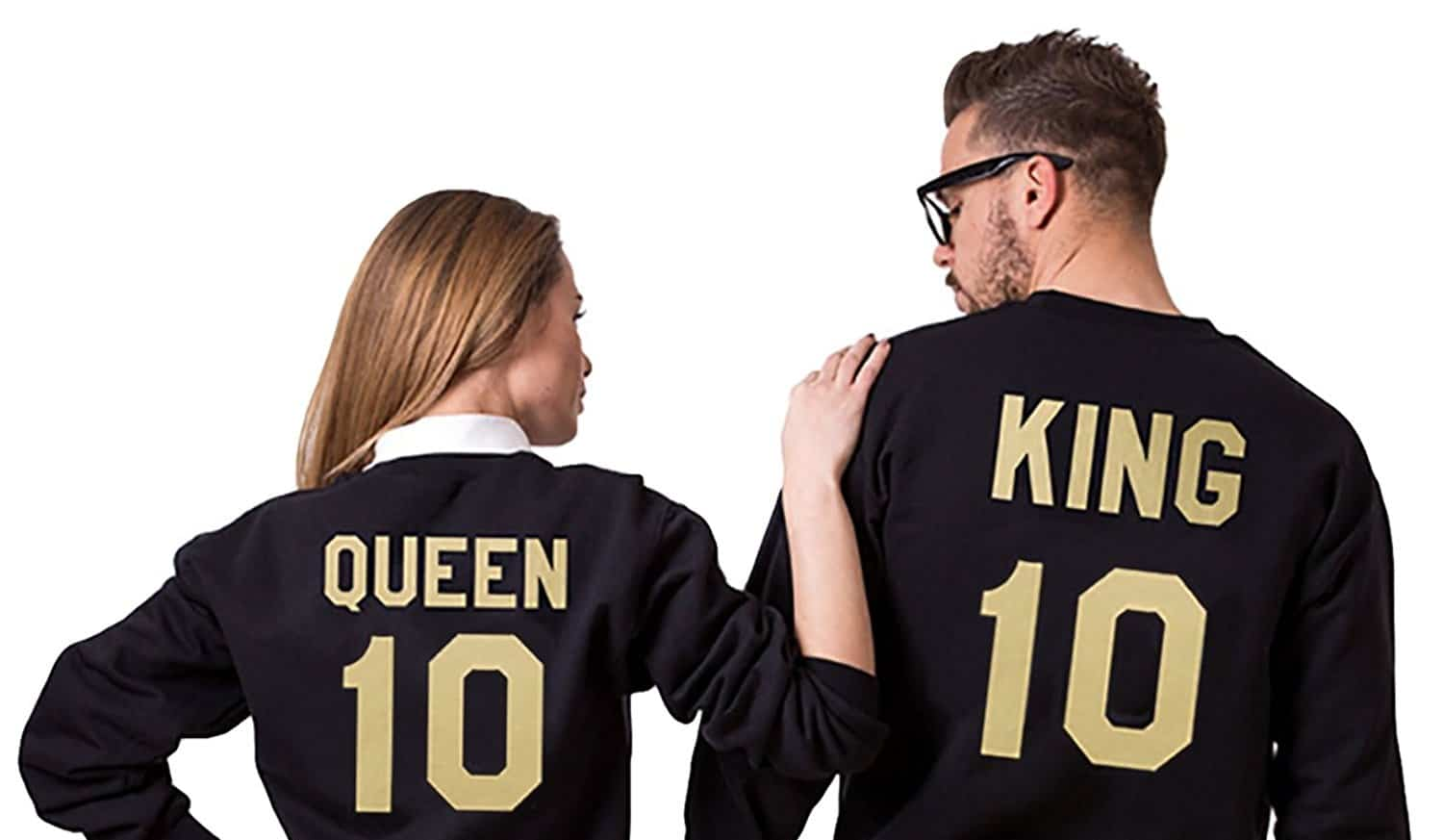 King und Queen Pullover Hoodie Sweater Partner Pärchen Partnerlook