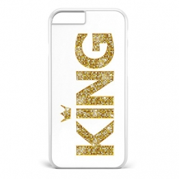 King & Queen Gold / Pärchen Cover Handyhülle * iPhone 5 5S 6 6S Galaxy S5 S6 S7, Hüllendesign:Design 2, Handymodell:Apple iPhone 6 / 6S -