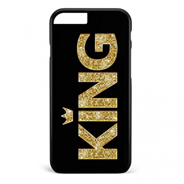 King & Queen Gold / Pärchen Cover Handyhülle * iPhone 5 5S 6 6S Galaxy S5 S6 S7, Hüllendesign:Design 1, Handymodell:Apple iPhone 7 -