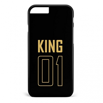 King & Queen / Pärchen Cover Handyhülle * iPhone 5 5S 6 6S Galaxy S5 S6 S7, Hüllendesign:Design 1, Handymodell:Apple iPhone 7 -