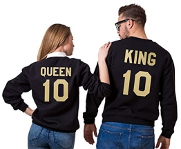 King und Queen Partner Pullover