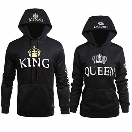 King und Queen mit Camouflage Design Partner Sweatshirts
