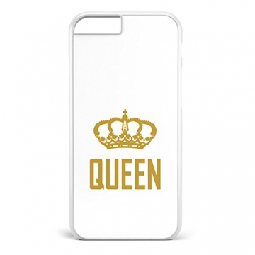 King & Queen weiss / Pärchen Handyhülle | Apple iPhone 5 6 7 Galaxy S5 S6 S7, Hülle:Design 7, Handy:Apple iPhone 6 / 6S -