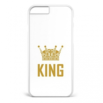 King & Queen weiss / Pärchen Handyhülle | Apple iPhone 5 6 7 Galaxy S5 S6 S7, Hülle:Design 3, Handy:Apple iPhone 6 / 6S -