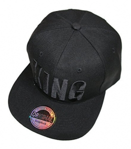 Black in Black Snapback Cap (KING) -