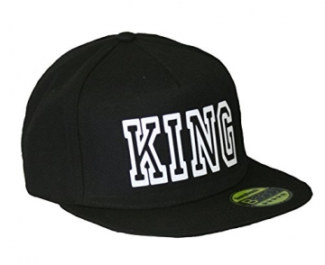 King & Queen Snapback stylische Pärchen Caps Basecap Partner Look Kappe Mütze -