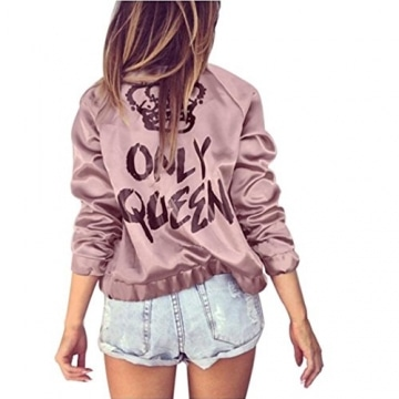 Only-Queen Satin Bomber Langarm Jacke -