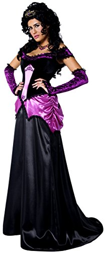 Paare Damen & Herren Gothic Zählen & Countess Vampire ausstich Vampirin voller Länge lang Halloween Fancy Dress Kostüm -