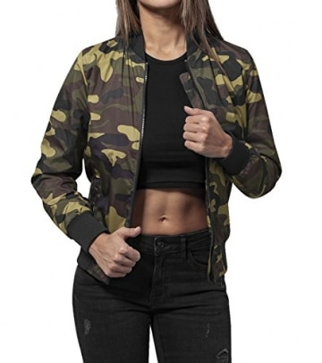 Queen 27 Bomberjacke Girls Camouflage Certified Freak -