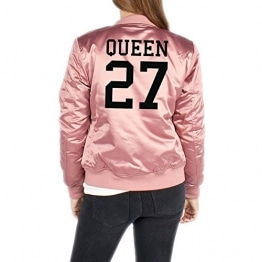 Queen 27 Bomberjacke Girls Rosa Certified Freak -