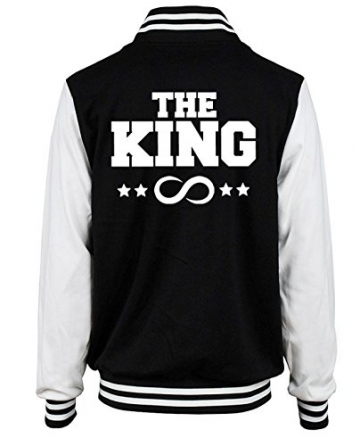 "SE-creation Partner Look College Jacke ""THE KING"" ""HIS QUEEN"" 