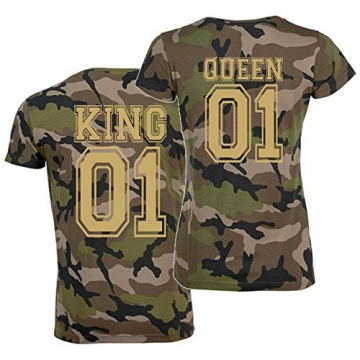 T-Shirt-Set KING oder QUEEN Partner-Shirts -