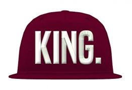 TRVPPY Kinder Junior 5 Panel Cap Modell KING, Weiß-Burgundy, b10b -